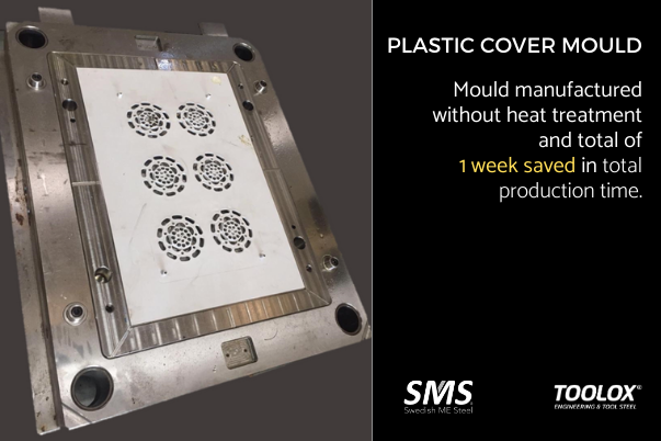 Plastic cover mould made with Toolox 44