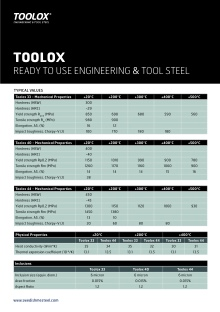Brochure - Toolox - Typical Values